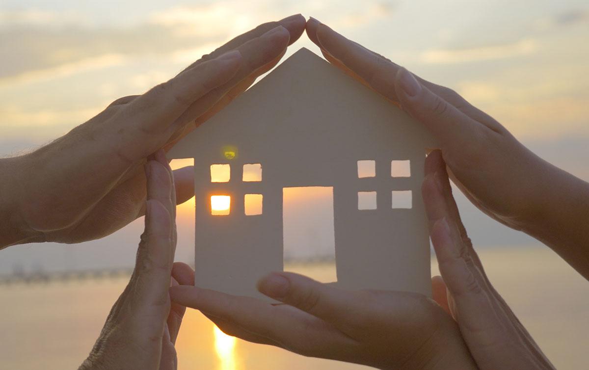 Immagine simbolica casa protetta e sicura