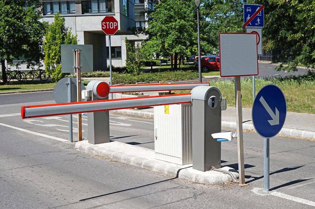Barriera ingresso parcheggio